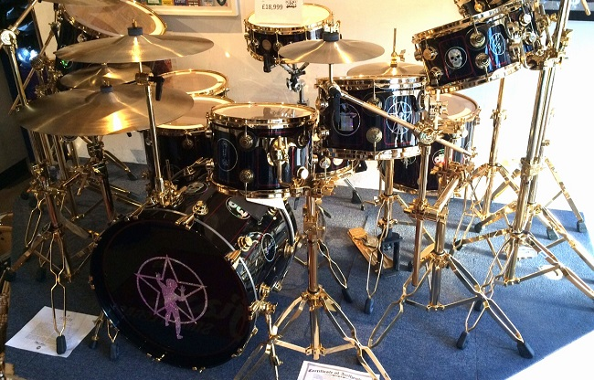 Neil Peart R30 Anniversary Replica drum set...