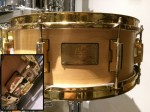 Pearl Classic Custom 14x5.5 Snare Drum - Natural Satin *Second Hand*
